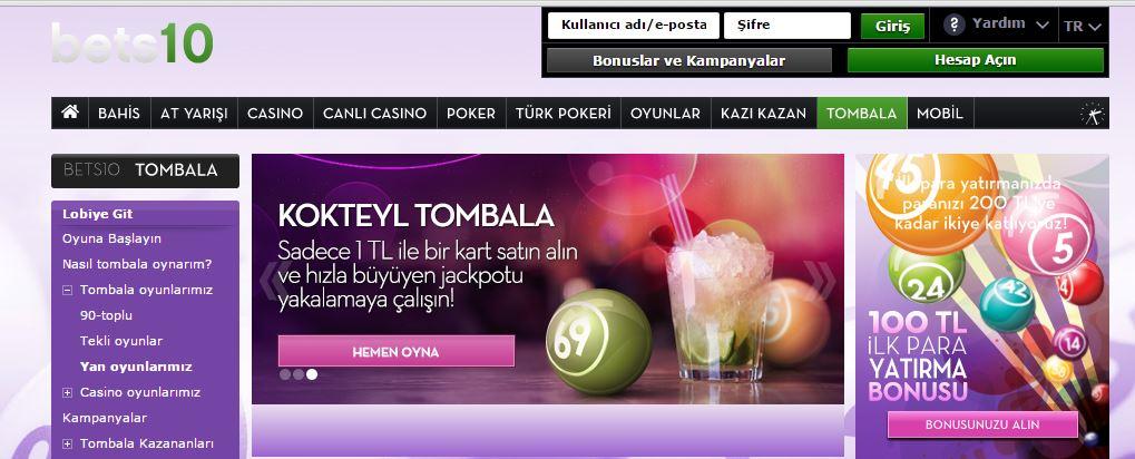 Bets10 Tombala Chat Oyunları